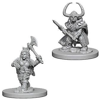 D&D Nolzur's Marvelous Unpainted Miniatures Dwarf Female Barbarian (Pack of 6)