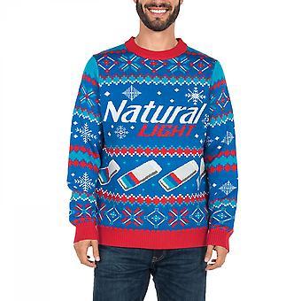 בירה טבעית אור חג המולד מכוער סוודר