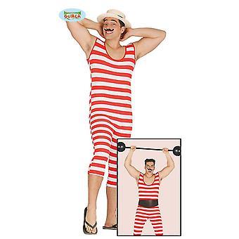 Bathing suit of 20s funny weightlifter Clowmkostüm men's Carnival