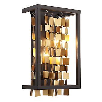 Endon Daya 2 licht muur licht mat zwart & mat goud 81960