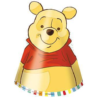 Soirée à thème Winnie l'ourson Winnie l'ourson partie chapeaux 6 pièces enfants anniversaire