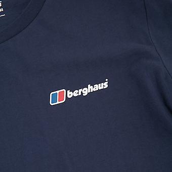 Berghaus Mens Corporate logo pitkähihainen puuvilla Tee T-paita