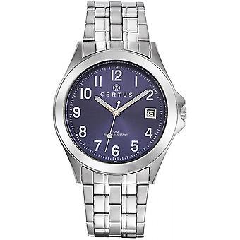 Certus 616294 - klocka stål blå mannen
