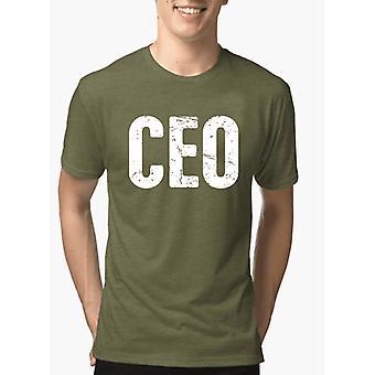 CEO halv ærmer melange t-shirt