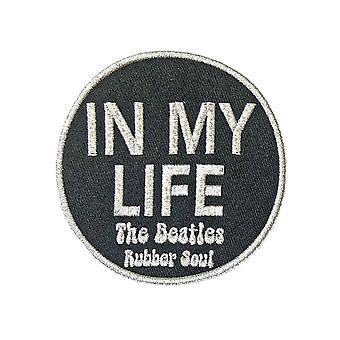 Beatles patch elämässäni kumi sielu uusi virallinen musta kirjailtu silitys rauta päälle