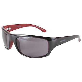 French Connection Sports Wrap Sunglasses - Black/Red