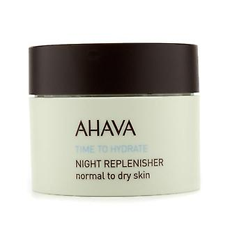 Ahava Time To Hydrate Night Replenisher (normal To Dry Skin) - 50ml/1.7oz