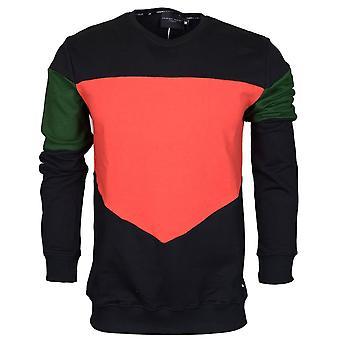 Criminal Damage Vasco Cotton Sweat Black/red