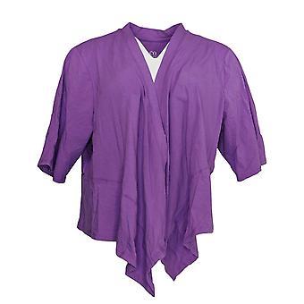 Denim & Co. Printed V-Neck Sleeveless Purple Scarf A305335