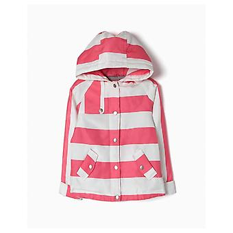Zippy Pink Stripe Parka Coat