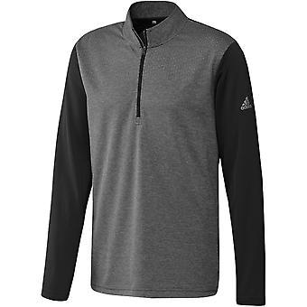 Adidas Mens Lätt Halv Zip Wicking Golf Tröja Jumper