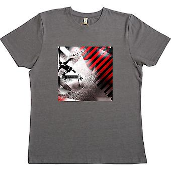 Eric Red, White and Black Heather Grey 100% Recycled T-Shirt