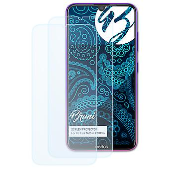 Bruni 2x Screen Protector compatible with TP-Link Neffos X20 Pro Protective Film
