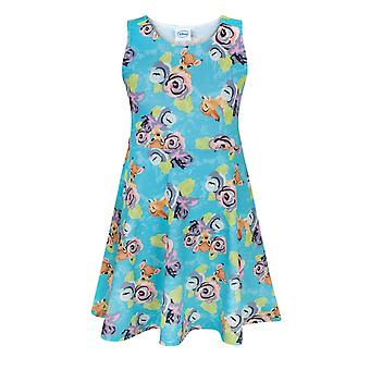 Disney Bambi All Over Print Children's Girl's Skater Dress