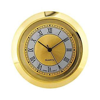 Clock movement quartz mini insertion head Ø42mm gold roman