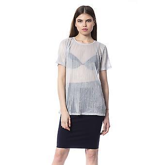 Zilveren T-shirt Silvian Heach Woman