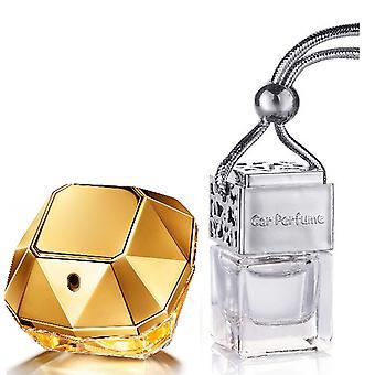 Paco Rabanne Lady Million for hendes inspirerede Fragrance 8ml Chrome Låg Flaske Hængende Bil Bil Auto Air Freshener