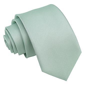 Zakurzony zielony zwykły Shantung Slim Tie
