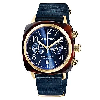 Briston 19140.PYA.T.33.NMB Clubmaster Classic Dark Blue Gold Tone Wristwatch