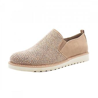 JAN 24603 Josie Sparkly Sporty Wide Fit Loafers In Powder