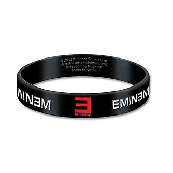 Eminem Wristband Logo slim shady new Official 10mm Black Rubber
