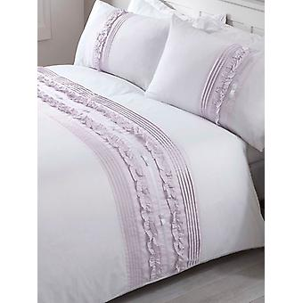 Tilly Duvet Cover and Pillowcase Bed Set - Super King, Heather