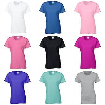 Gildan senhoras/mulheres algodão pesado Missy cabe a camiseta de manga curta