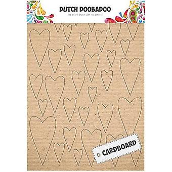 Dutch Doobadoo Dutch Cardboard art Hearts A5 472.309.003