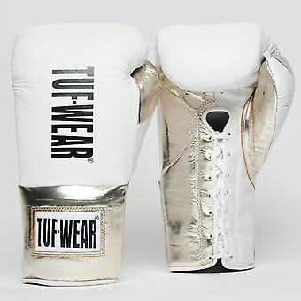 Tuf Wear Sabre Contest Gloves (British Board of Control Approved) White / Gold