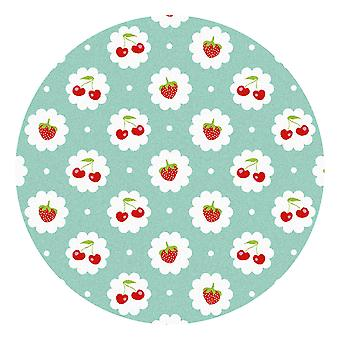 Kids Rug - Red Fruit - Washable - Circle 115 cm