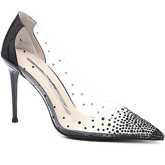 Staccato Womens Embellished Plexi Court Shoe