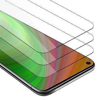 Cadorabo 3x Tank Foil for Huawei MATE 30 LITE - Protective Film in KRISTALL KLAR - 3 Pack Tempered Display Protective Glass in 9H Hardness with 3D Touch Compatibility