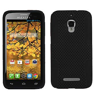 ASMYNA Astronoot Protector Case for Alcatel One Touch Fierce - Black/Black