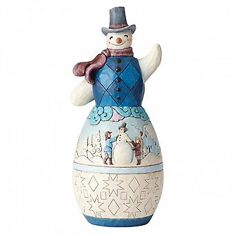 Jim Shore Heartwood Creek Snowman Winter Scene Statue
