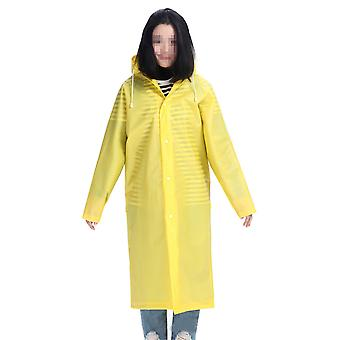 Adult thick long translucent raincoat