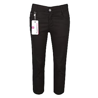 Black Casual Stretch Boys Chino Pants