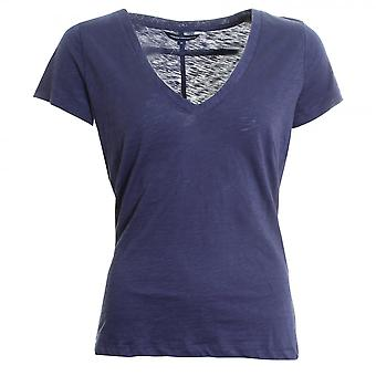 French Connection Fresh Slub Jersey Short Sleeve Round-Neck Womens Top