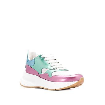 Alexander Mcqueen Ezcr015002 Women's Multicolor Leather Sneakers