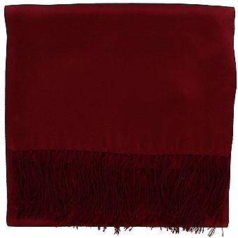 Michelsons of London Wide Textured Silk Dress Scarf - Wine