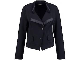 Taifun Black Jersey Tailored Jacket