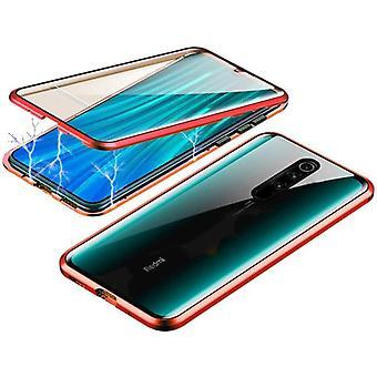 Mobiles Gehäuse mit doppelseitigem gehärtetem Glas - Xiaomi Redmi K20/K20P - Rot