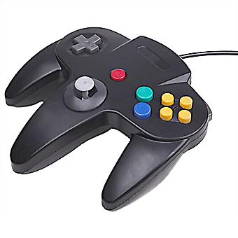 Wired Controller Compatible with Nintendo 64 Gamepad for Original Game Console Black