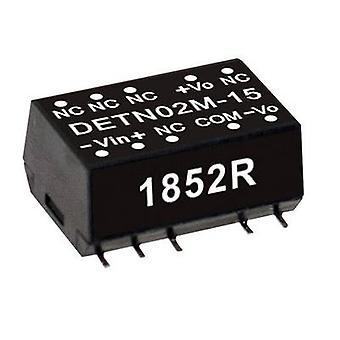Keskimääräinen NO DETN02M-05 DC/DC -muunnin (moduuli) 200 mA 2 W Ei. lähtöjen määrä: 2 x