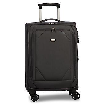 Fabrizio Mode Handbagage Trolley S, 4 Wielen, 56 cm, 31 L, Zwart