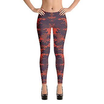 Fashion leggings | camouflage | red camouflage