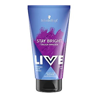 Schwarzkopf 3 X Schwarzkopf Live Colour Stay Bright Booster - Purple