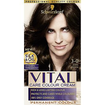 Schwarzkopf Vital Hair Colour - Dark Brown 3-0 Schwarzkopf Vital Hair Colour - Dark Brown 3-0