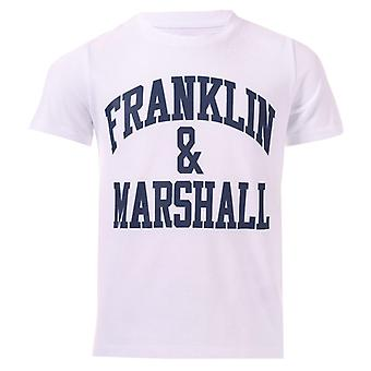Boy's Franklin And Marshall Junior F & M Logo T-Shirt in White