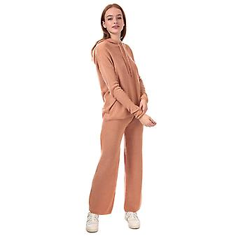 Women's Brave Soul Knitted Co-ord Loungewear Set in Brown