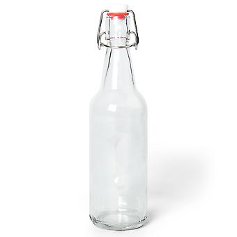 16.9 Oz Clear Glass Bottles
